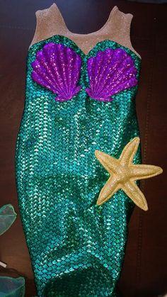 Reserved for Octavia Pink custom size shimmering Ariel little