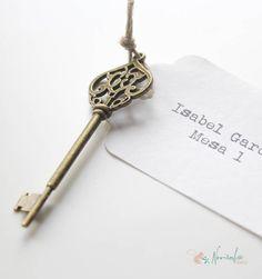 Llave vintage para los invitados de la boda. Old vintage key for weddings