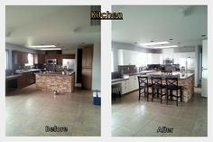 Kitchen - BM Stonington Gray on walls and BM Advance Simply White on cabinets.