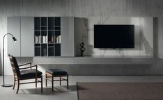 LANDSCAPE - Designer Wall storage systems from Acerbis ✓ all information ✓ high-resolution images ✓ CADs ✓ catalogues ✓ contact information. Living Tv, Living Room Tv Unit, Living Room Modern, Living Room Designs, Living Spaces, Tv Wall Design, House Design, Tv Feature Wall, 3d Foto