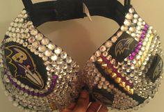 Baltimore Ravens rhinestone bra party club by Smokinghotdivas, $70.00