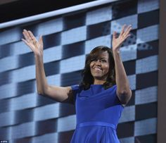 The first lady almost got emotional when she talked about how what President Obama did for...