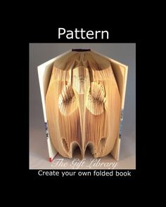 Book Folding Pattern - Bat Pattern to create your own folded book art