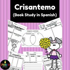 Crisantemo Book Study in Spanish (Chrysanthemum activities Spanish)