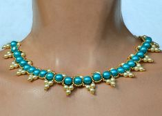 Free pattern for necklace Paloma