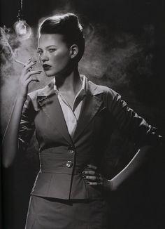 Models: Behati Prinsloo Photographer: Miles Aldridge Vogue January 2005 - 1
