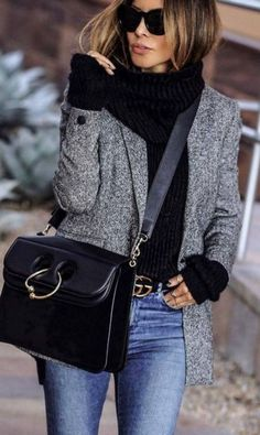 The best blazer outfits ideas for women - # best . The Best Blazer Outfits Ideas For Women – # Best # Genel Casual Winter Outfits, Winter Fashion Outfits, Look Fashion, Autumn Winter Fashion, Fall Outfits, Womens Fashion, Winter Style, Jeans Fashion, Women's Casual