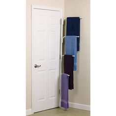 Clutterbuster™ Family Towel Bar/White $39.99 Great for small bathroom towel storage