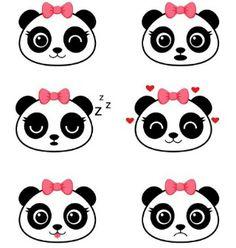 Panda Themed Party, Panda Birthday Party, Panda Party, Felt Crafts, Diy And Crafts, Cute Panda Drawing, Kids Room Wall Art, All Things Cute, Cute Cartoon Wallpapers