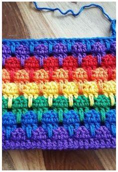 Crochet Crafts, Crochet Yarn, Easy Crochet, Crochet Projects, Free Crochet, Rainbow Crochet Blankets, Crochet Daisy, Diy Crafts, Granny Square Crochet Pattern