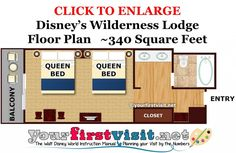 Updated photo tour of a  Wilderness Lodge standard rooms. Like those at the Animal Kingdom Lodge, they are distinctive for sleeping only four, and the overall small size of the sleeping area space.