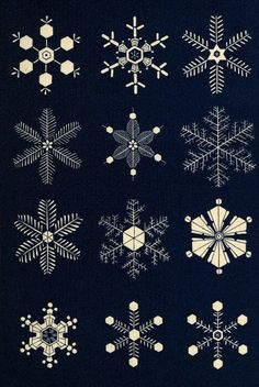 Illustrations of Snowflakes (1863) | The Public Domain Review