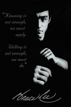 Bruce Lee was a martial arts and action movie legend as well as founder of his own martial art, Jeet Kune Do. From movies to martial arts to his untimely death, he had a fascinating story. Wisdom Quotes, Quotes To Live By, Me Quotes, Motivational Quotes, Inspirational Quotes, Qoutes, Eminem Quotes, Rapper Quotes, Yoga Quotes