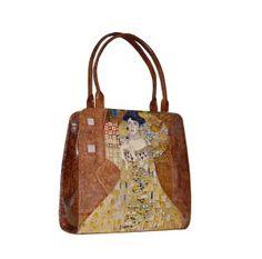 Ručne maľovaná kabelka 8650 inšpirovaná motívom Gustav Klimt