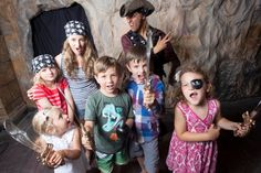 Kids love the chance to dress up and join their Pirate Captain for a tour at Pirate's Quest, Newquay, Cornwall