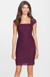 Adrianna Papell Lace Sheath Dress (Regular & Petite) Comes in several colors!