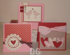 3x3 Valentine's Day Cards by DannieGrvs - Cards and Paper Crafts at Splitcoaststampers