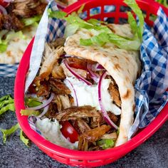 This recipe for Pork Gyros with Tzatziki and Sweet Chili Sauce is a keeper – one taste and you'll be hooked! You need to make this classic Greek dish.