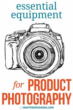All the equipment needed for product photography. 9 essential items you need to start photographing your products — 8 are free or cost under ten dollars. Plus, some extra gear you don't need immediately but may want to add to your future product photography setup. Photography Essentials, Photography Gear, Photography Equipment, Photography Backdrops, Product Photography, Editing Apps, Image Editing, Photo Editing, Selling Crafts Online