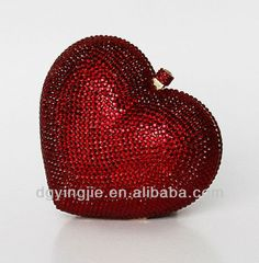 lovely heart shaped clutch bags for wedding