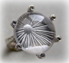 """ Another sunshine"" Quartz reverse intaglio ring"
