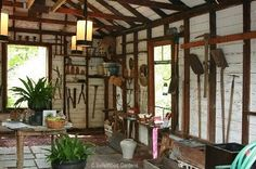lovely, organized garden shed