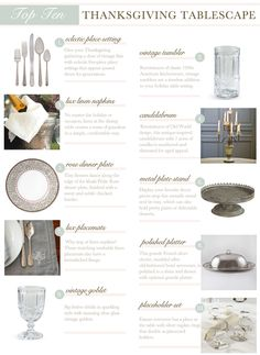 Top Ten Items for Thanksgiving Tablescapes on the @LaylaGrayce Blog #laylagrayce #blog