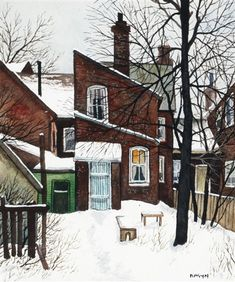 View Dundas at Bathurst by John Kasyn on artnet. Browse upcoming and past auction lots by John Kasyn. Painting Snow, Winter Painting, Winter Art, Building Painting, House Painting, House Illustration, Fairytale Art, Art For Art Sake, Landscape Paintings