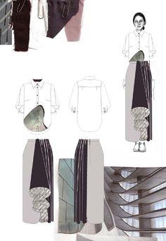 Fashion Sketchbook - fashion illustrations & fabrics; graduate fashion portfolio // Emma Berry