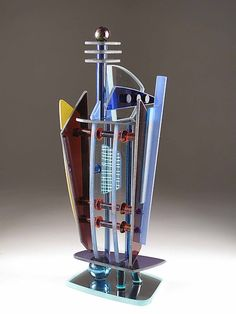 """""""Picolla Torre""""  Art Glass Sculpture  Created by George Ponzini"""