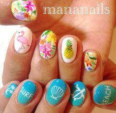 Tropical Beach Nails