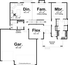 1.5 Story Modern Farmhouse Plan | Hutchins
