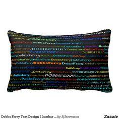 Dobbs Ferry Text Design I Lumbar Pillow
