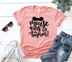 Mouse Ears Go with Anything- Magical Vacation Tee - Adult and Youth sizes by ToodleBugsBoutique13 on Etsy