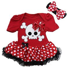 Baby Red Pirate Costume with Polka Dots