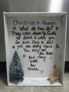 Christmas in Heaven Shadow box