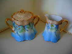 Resultado de imagem para antique limoges creamer and sugar bowl