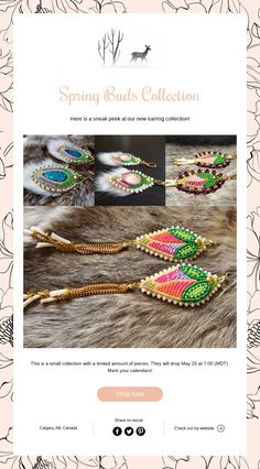 Spring Buds Collection Native Fashion, Native Style, Beadwork, Bud, Spring, Collection, Pearl Embroidery, Gem, Eyes