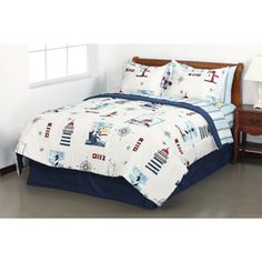 Mainstays Lighthouse Bed in a Bag Bedding Set    I love this for my new bedroom theme I'll be doing