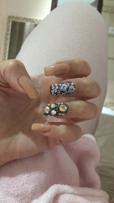 Milena, Nail Art, Pretty Nails, Beauty, Nail Design, Stones, Manicure Ideas, Nail Stuff, Beleza