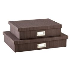 Espresso Parker Office Storage Boxes | SALE $17.99 - $19.99