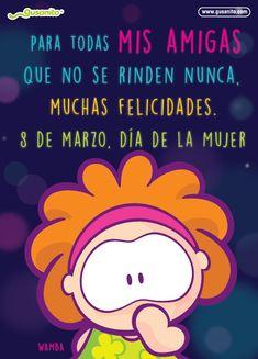 Para todas mis amigas | Postales y tarjetas de Días festivos, dias_festicos, dia_mujer, día de la mujer, tarjetas_fijas, wamba, | Gusanito.com