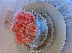 Tea roses in tea cups for shabby chic tea party by oh goodie designs