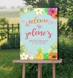 Welcome Sign Bridal Shower-Wedding Hawaii by Hottomatoink2 on Etsy