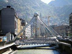 The Pont de Paris bridge, Gran Valira river, Andorra la Vella, Andorra Countries Europe, Cities In Europe, Andorra, Cannes, Monaco, Carta Magna, Pont Paris, Over The Bridge, The Beautiful Country
