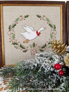 Dreams of Julie: Новогодняя парочка/ Christmas crosstitch