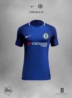 Chelsea 2017/18 Concept Nike Vapor AeroSwift Inspired by Home Chelsea shirt 1987-88. http://www.footballnerds.it/chelsea-kit-nike-2017-18-concept-rupertgraphic/