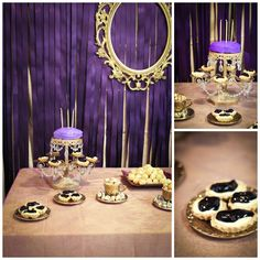 purple and gold royal princess party