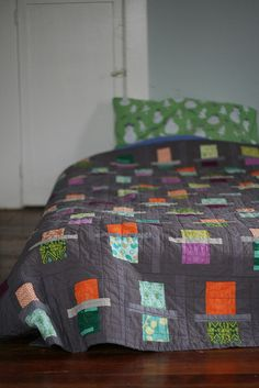 ...Rossie's first Fraction quilt inspired by my quilt, Your Parents Are Cool.