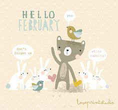 white rabbits - loveprintstudio
